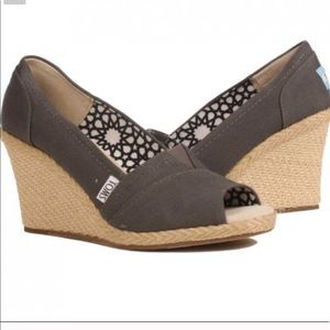 Toms Grey Classic Wedge